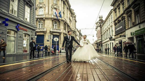 Wedding pictures in Zagreb